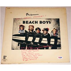 "Brian Wilson Signed ""Beach Boys"" Vinyl Album Cover (PSA LOA)"