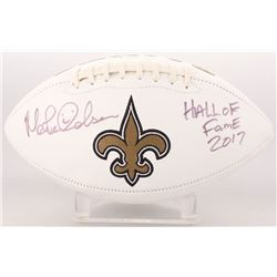 "Morten Andersen Signed New Orleans Saints Logo Football Inscribed ""Hall of Fame 2017"" (Radtke COA)"