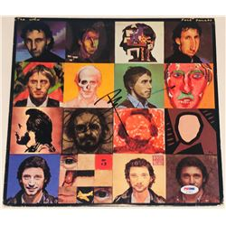"Pete Townshend Signed ""Face Dances"" Vinyl Record Album Cover (PSA COA)"