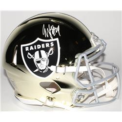 Marshawn Lynch Signed Oakland Raiders Full-Size Authentic On-Field Chrome Speed Helmet (Radtke COA)