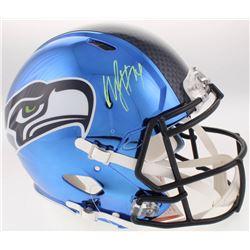 Marshawn Lynch Signed Seattle Seahawks Full-Size Authentic On-Field Chrome Speed Helmet (Radtke COA)