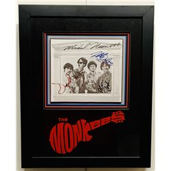 The Monkees 13x16 Custom Framed Photo Display Signed by (4) with Davy Jones, Peter Tork, Mickey Dole