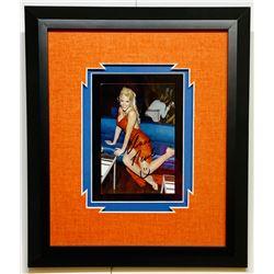 Anna Nicole Smith Signed 12x14 Custom Framed Photo Display (JSA COA)