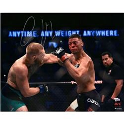 Conor McGregor Signed  UFC 202 Punching Diaz  16x20 Photo (Fanatics Hologram)