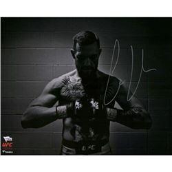 """Conor McGregor Signed UFC """"Black  White"""" 16x20 Photo (Fanatics Hologram)"""