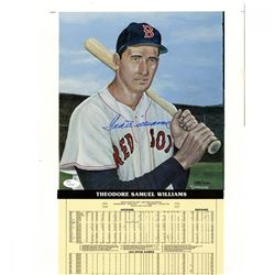 Ted Williams Signed Boston Red Sox 12x19 Limited Edition Career Highlight Stat Card (JSA Hologram)