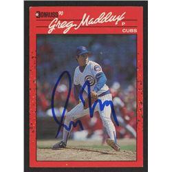 Greg Maddux Signed 1990 Donruss #158 (PSA Hologram)