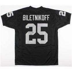 "Fred Biletnikoff Signed Oakland Raiders Jersey Inscribed ""HOF 88"" (Beckett COA  GTSM Hologram)"
