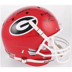 "Herschel Walker Signed Georgia Bulldogs Full-Size Helmet Inscribed ""80 Natl Champs""  ""82 Heisman"" (B"