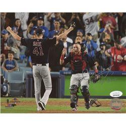"Christian Vazquez Signed Boston Red Sox 8x10 Photo Inscribed ""Damage Done"" (JSA COA)"