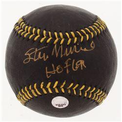 "Stan Musial Signed Black Leather Baseball Inscribed ""HOF 69"" (MLB Hologram)"