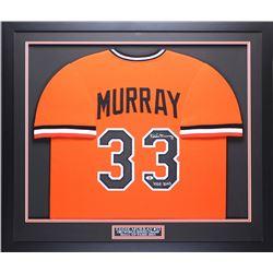 "Eddie Murray Signed Baltimore Orioles 35x43 Custom Framed Jersey Inscribed ""HOF 2003"" (Beckett COA)"