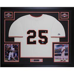 Barry Bonds Signed San Francisco Giants 35x43 Custom Framed Jersey (Beckett COA)