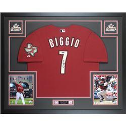 Craig Biggio Signed Houston Astros 35x43 Custom Framed Jersey (TriStar Hologram)