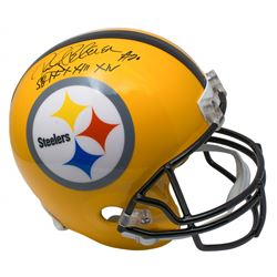 "Rocky Bleier Signed Pittsburgh Steelers Full-Size Helmet Inscribed ""SB IX, X, XIII, XIV"" (SI COA)"
