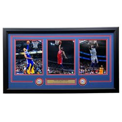 Ben Simmons, Joel Embiid  Jimmy Butler Philadelphia 76ers 18x35 Custom Framed Photo Display