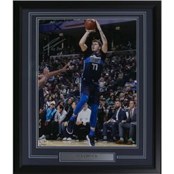 Luka Doncic Signed Dallas Mavericks 22x27 Custom Framed Photo Display (Fanatics Hologram)