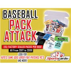 """BASEBALL PACK ATTACK"" – (15) Factory Sealed Packs Per Box!"