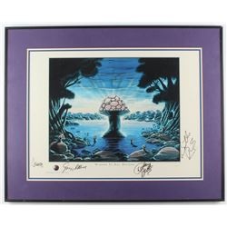 The Allman Brothers Band 24.75x30.75 Custom Framed Photo Band-Signed by (4) with Gregg Allman, Dicke