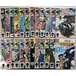 """Lot of (52) 1985-1989 Marvel """"Web of Spider-Man"""" Comic Books with 1st Series #1-50  Annual #1  #3"""