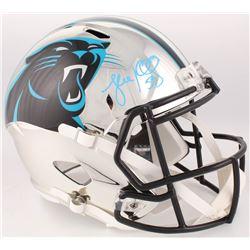 Luke Kuechly Signed Carolina Panthers Full-Size Chrome Speed Helmet (JSA COA)