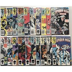 """Lot of (41) 1984-1987 Marvel """"Spectacular Spider-Man"""" 1st Series Comic Books #90-130"""