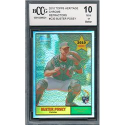 2010 Topps Heritage Chrome Refractors #C33 Buster Posey (BCCG 10)