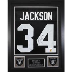 Bo Jackson Signed Oakland Raiders 24x30 Custom Framed Jersey (JSA COA  Jackson Hologram)