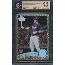 2011 Topps Update Cognac Diamond Anniversary #US55 Anthony Rizzo (BGS 9.5)