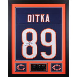 Mike Ditka Signed Chicago Bears 24x30 Custom Framed Jersey (JSA COA)