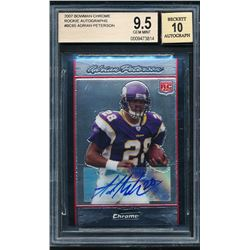 2007 Bowman Chrome Rookie Autographs #BC65 Adrian Peterson B (BGS 9.5)