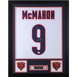 Jim McMahon Signed Chicago Bears 24x30 Custom Framed Jersey (JSA COA)