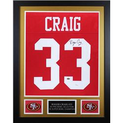 Roger Craig Signed San Francisco 49ers 24x30 Custom Framed Jersey (JSA COA)