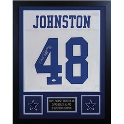 Daryl Johnston Signed Dallas Cowboys 24x30 Custom Framed Jersey (JSA COA)