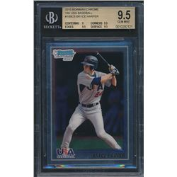 2010 Bowman Chrome 18U USA Baseball #18BC8 Bryce Harper (BGS 9.5)