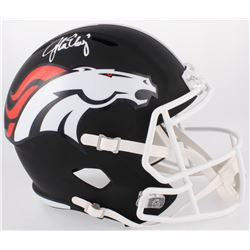 John Elway Signed Denver Broncos Full-Size Custom Matte Black Speed Helmet (JSA COA)