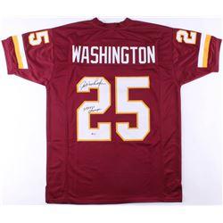 "Joe Washington Signed Washington Redskins Jersey Inscribed ""SB XVII Champs"" (Beckett COA)"