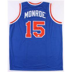 Earl Monroe Signed New York Knicks Jersey (JSA COA)