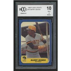 1986 Fleer Update #14 Barry Bonds XRC (BCCG 10)