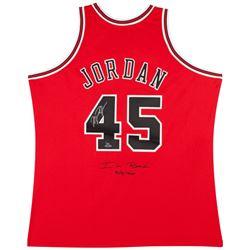"Michael Jordan Signed LE Chicago Bulls Mitchell  Ness Jerey Inscribed ""I'm Back""  ""3/8/1995"" (UDA CO"