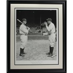 """Babe Ruth  Lou Gehrig LE """"Opening Day Photo"""" 24x29 Custom Framed Giclee Display"""