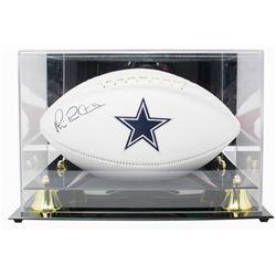 Michael Irvin Signed Dallas Cowboys Logo Football with Acrylic Display Case (Beckett COA)