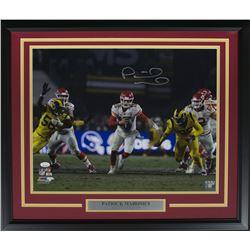 Patrick Mahomes Signed Kansas City Chiefs 22x27 Custom Framed Photo Display (JSA COA)