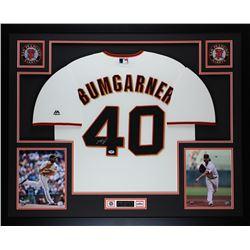 "Madison Bumgarner Signed Giants 35"" x 43"" Custom Framed Jersey (PSA COA)"
