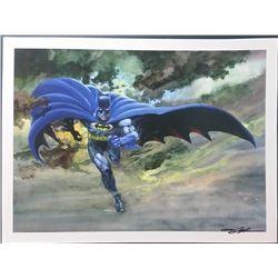 "Neal Adams Signed ""Batman Blue"" 18x24 Giclee (PA LOA)"