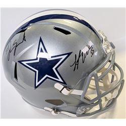 Leighton Vander Esch  Jaylon Smith Signed Dallas Cowboys Full-Size Speed Helmet (JSA COA)