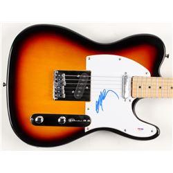 "Willie Nelson Signed Huntington 39"" Electric Guitar (PSA COA)"