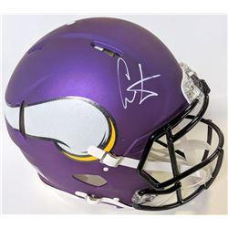 Cris Carter Signed Minnesota Vikings Full-Size Authentic On-Field Helmet (JSA COA)