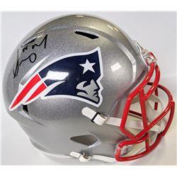 Sony Michel Signed New England Patriots Full-Size Speed Helmet (Beckett COA)
