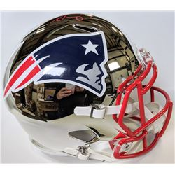 Sony Michel Signed New England Patriots Chrome Full-Size Speed Helmet (Beckett COA)